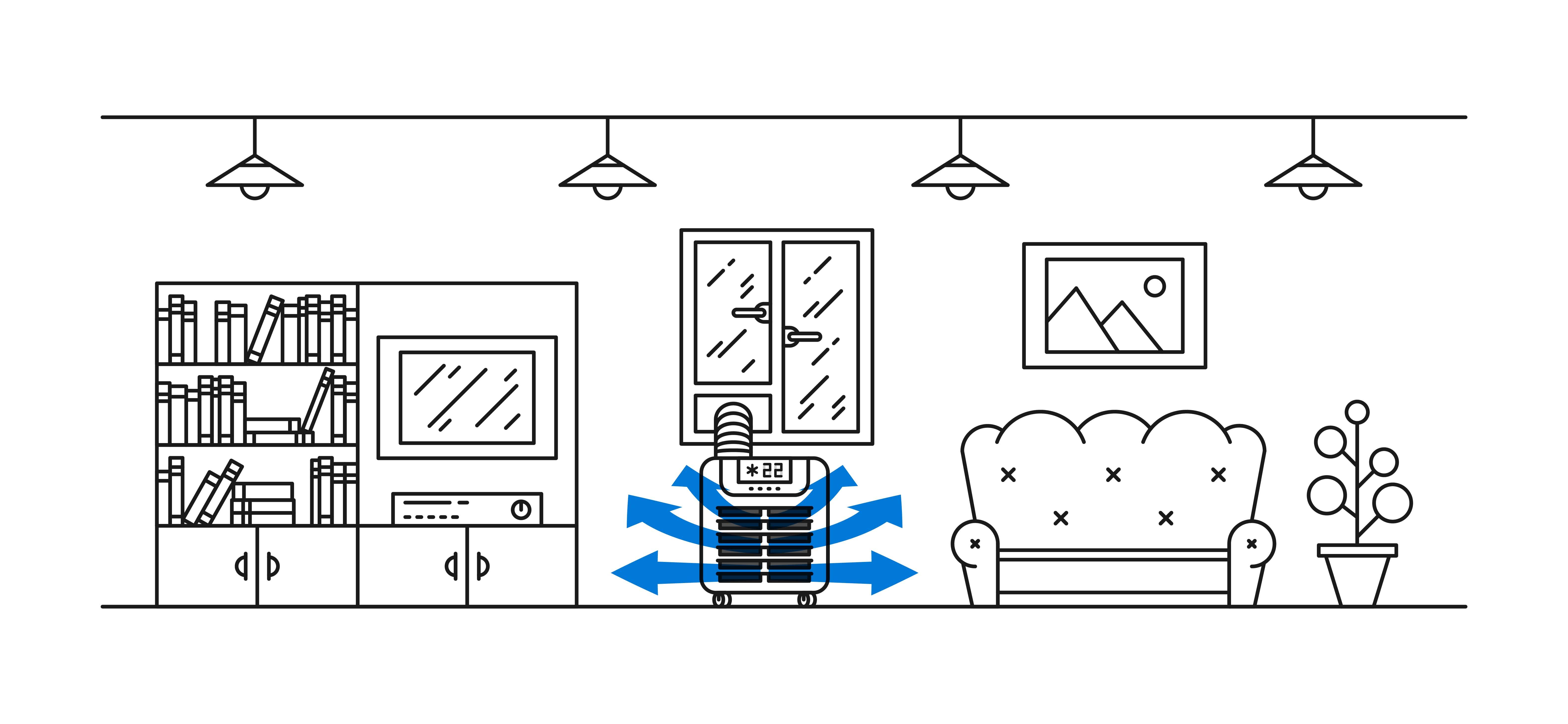 Schema di funzionamento del condizionatore portatile