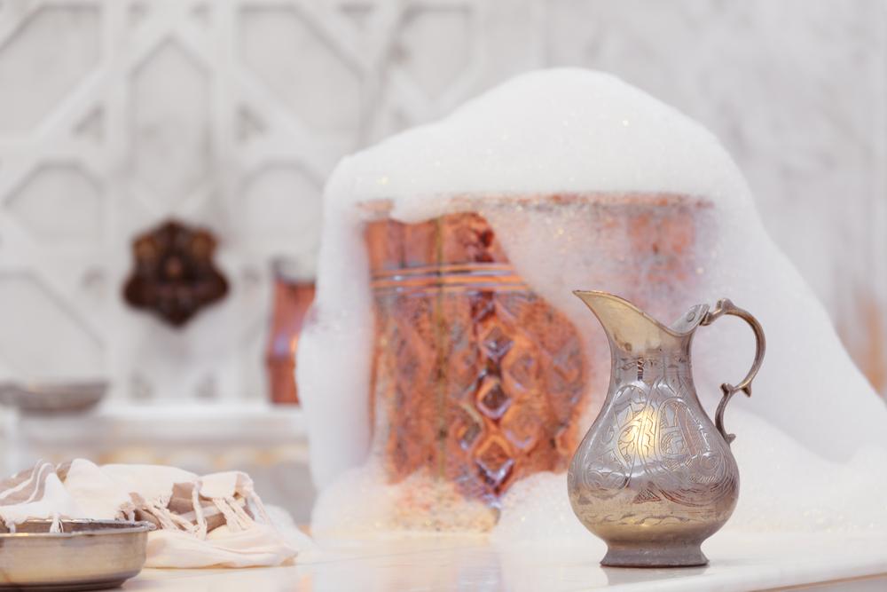 accessori per bagno in stile orientale