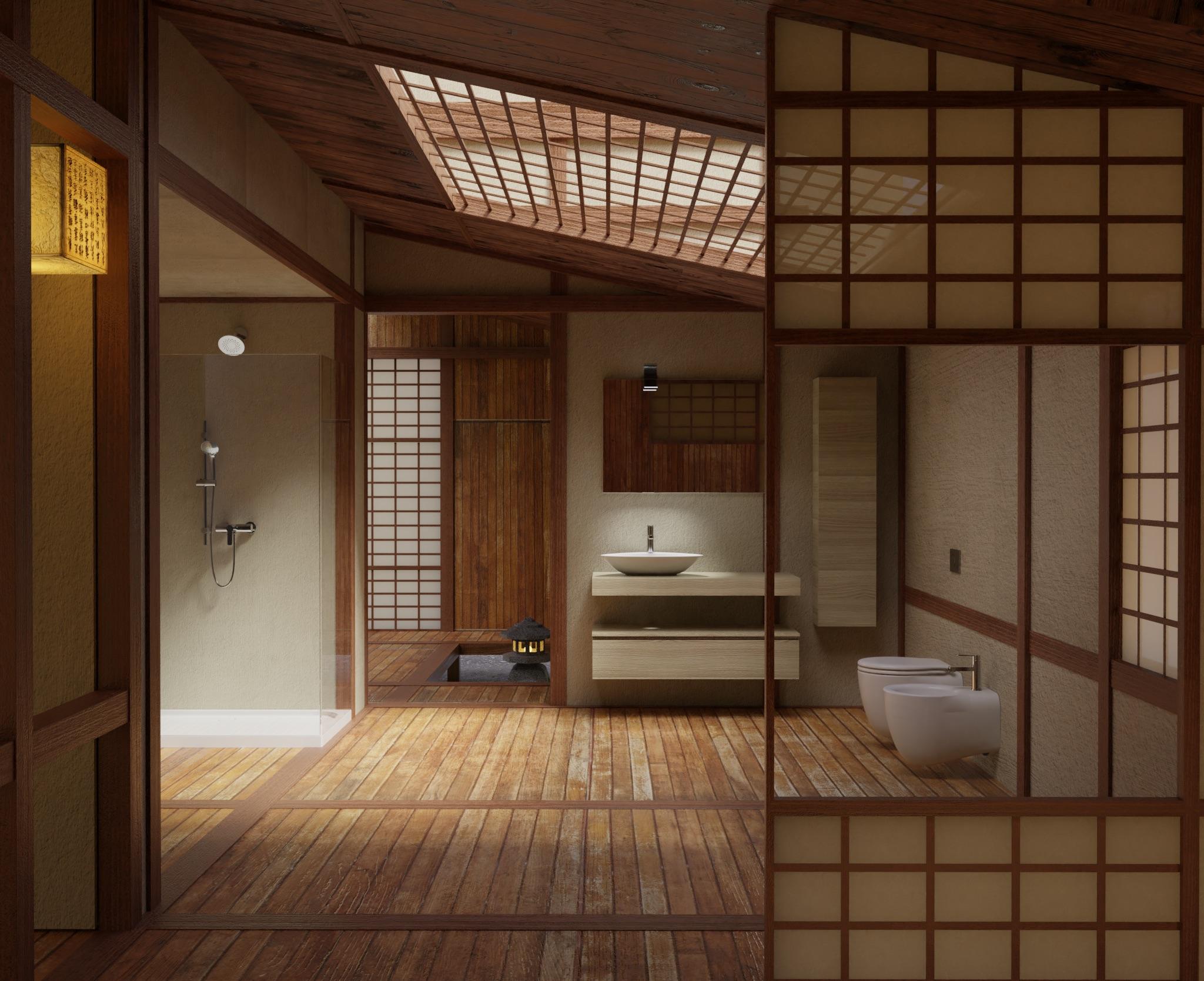 Come posizionare gli accessori del bagno per uno stile orientale modo d - Bagno stile giapponese ...