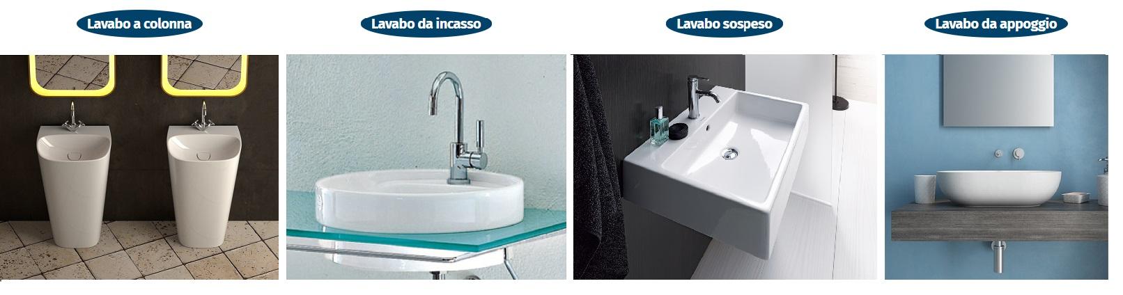 tipologie di lavabo