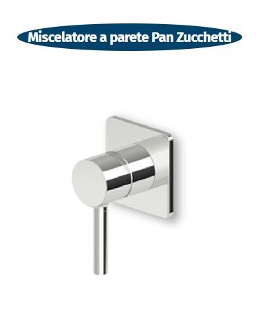 miscelatore a parete per doccia a incasso pan zucchetti