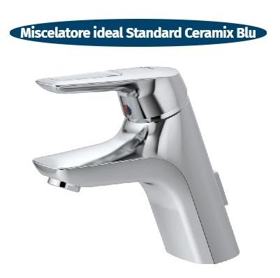 miscelatore standard per lavabo ceramix blu