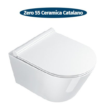 wc sospeso senza brida ceramica catalano new zero 55