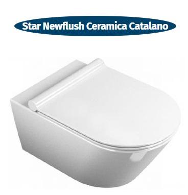 wc sospeso senza brida ceramica catalano star newflush