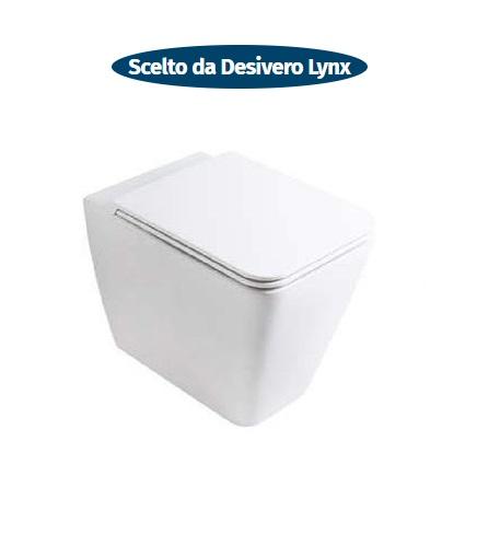 wc sospeso senza brida filo parete ceramica lynx