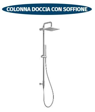 colonna doccia con presa acqua con soffione scelto da desivero