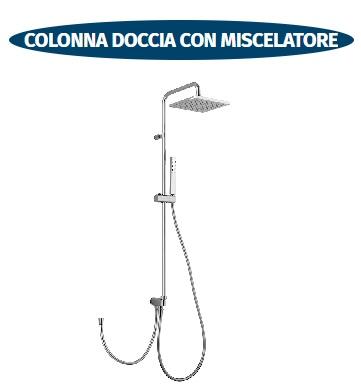 colonna doccia con miscelatore e soffione scelto da desivero