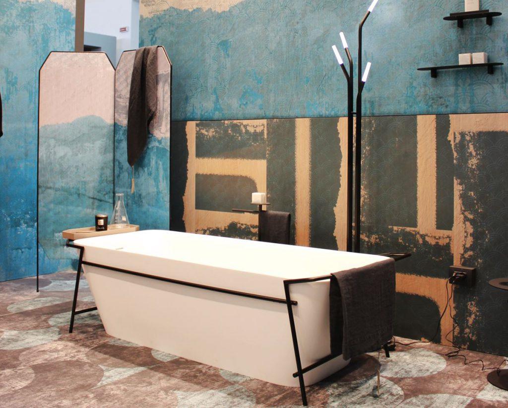 Inkiostro Bianco @ Cersaie 2019 | Pavimento e rivestimento in fibra di vetro